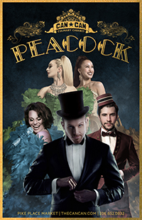 PEACOCK: Seattle's world class, dinner theatre featuring the best of dance, cabaret, burlesque, glitz and glamour.